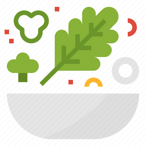 food, healthy, organic, salad, vegetable, vegetarian icon