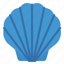animals, aquatic, food, life, sea, seashell icon