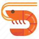 animal, food, sea, shellfish, shrimp icon