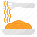 food, italian, pasta, spaghetti icon