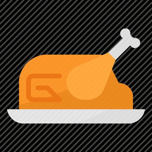chicken, food, meat, roast, turkey icon