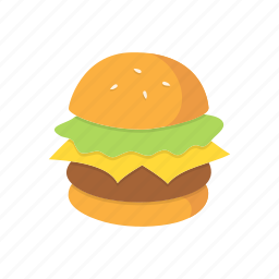 breakfast, burger, cheeseburger, cooking, fast, food, meal icon