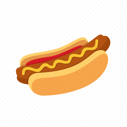 dinner, fast, food, hot dog, kitchen icon
