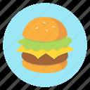 burger, cheeseburger, color, food