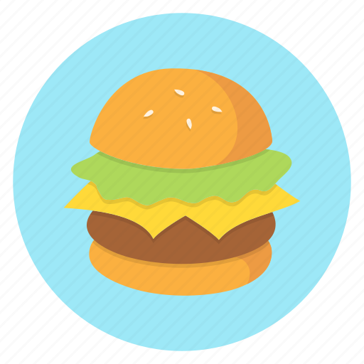 burger, cheeseburger, color, food icon
