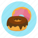 baking, color, donut, food icon