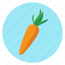 carrot, color, food, vegetables icon
