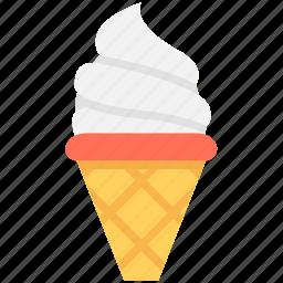 cone, cup cone, frozen dessert, ice cone, ice cream icon
