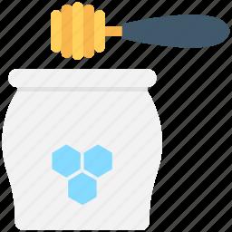 beeswax, food, honey, honey dipper, honey jar icon