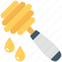 honey dripping, honey drizzler, honey serving, honey pouring, honey dipper icon