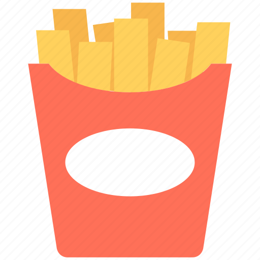 french fries, fries box, fries pack, frites, potato fries icon