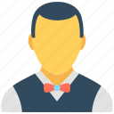 waiter, food service, food server, waiting staff, hotel staff icon