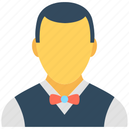 food server, food service, hotel staff, waiter, waiting staff icon