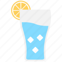 cold drink, drink, lemon juice, lemonade, orange juice icon