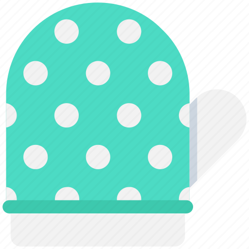 kitchen glove, mitten, oven glove, oven mitt, pot holder icon