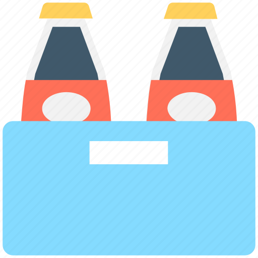 beer box, beer crate, beer kit, bottles, bottles crate icon
