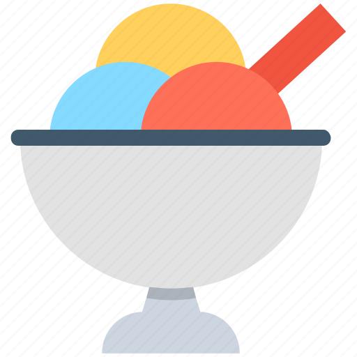 dessert, frozen dessert, ice cream, sorbet, sundaes icon
