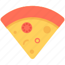 food, italian food, pizza slice, junk food, fast food icon