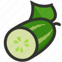 cucumber, food, salad, vegetable, veggie icon