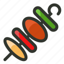 barbecue, food, grill, pork, skewer icon