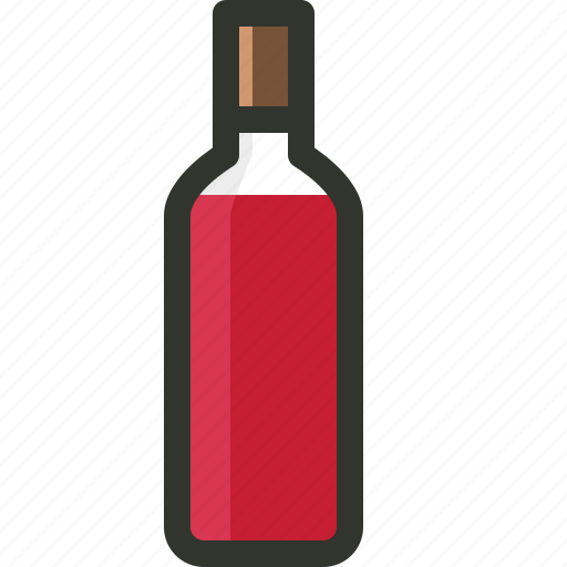 alcohol, beverage, red wine, wine, wine bottle icon