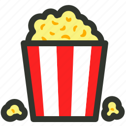 cinema, food, movie, popcorn, snacks icon