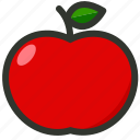 apple, food, fruit, organic, red apple icon