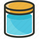 bottle, container, empty jar, jar, mason jar icon