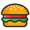burger, energy, food, junk food, meal, veggie burger icon