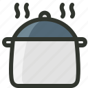 cooking pot, food, food pot, hot box, hot pot icon