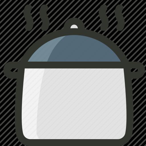 cooking pot, food, food pot, hot box, hot pot icon