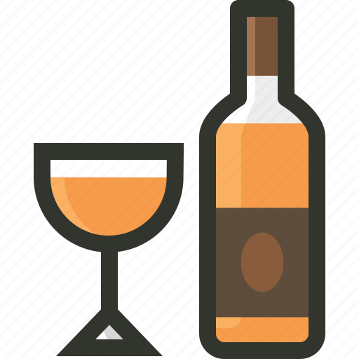 alcohol, bar, beverage, bottle, brandy, glass, liquor icon
