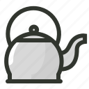 cooking, kettle, tea, tea kettle, teapot icon