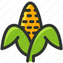 corn, corn husk, food, fruit, maize, sweetcorn icon