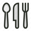 cutlery, food, fork, knife, restaurant, spoon icon