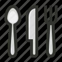food, fork, knife, spoon, cutlery, restaurant