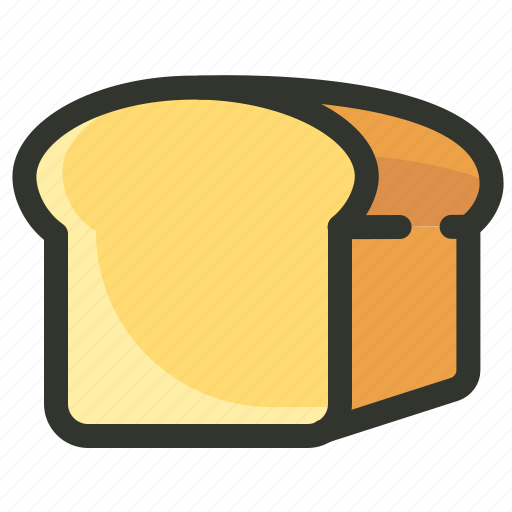 bakery, bread, bread loaf, breakfast, carb, food icon