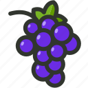 bunch of grapes, food, fruit, grape, grapes icon