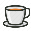 saucer, tea, tea cup, tea glass icon