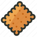 biscuit, cookies, cracker, food, snack icon