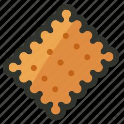 biscuit, cookies, cracker, food, snack icon