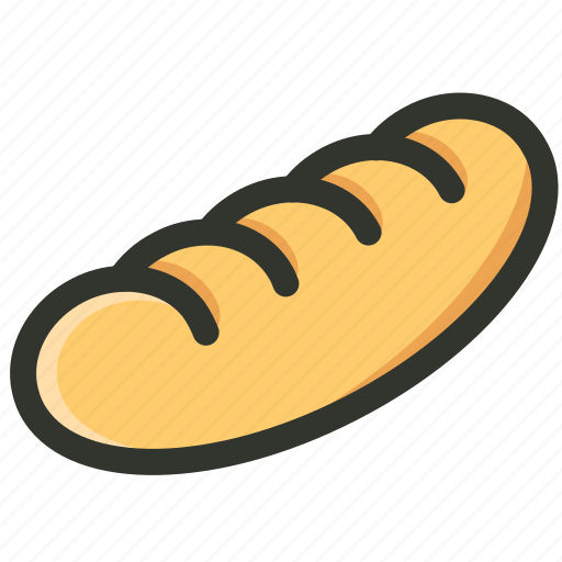 baguette, breed, food, french bread, loaf icon