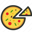 fast food, food, junk food, pizza, pizza slices icon