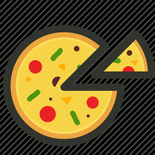 fast food, food, junk food, pizza, pizza slices icon