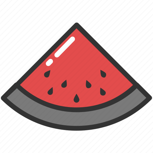 food, fruit, healthy eating, summer fruits, watermelon icon
