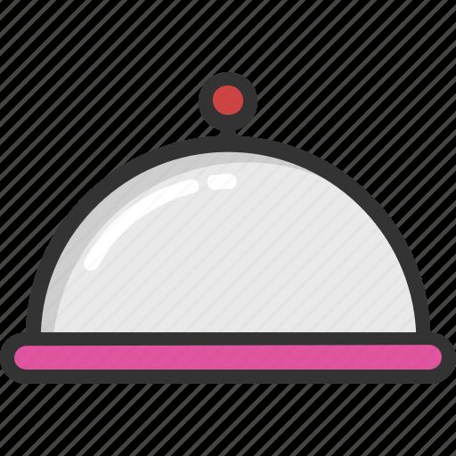 Chef platter, food, meal, platter, serving icon - Download on Iconfinder