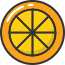 citrus, food, fruit, lemon slice, orange slice icon
