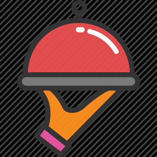 chef platter, food, meal, platter, serving icon