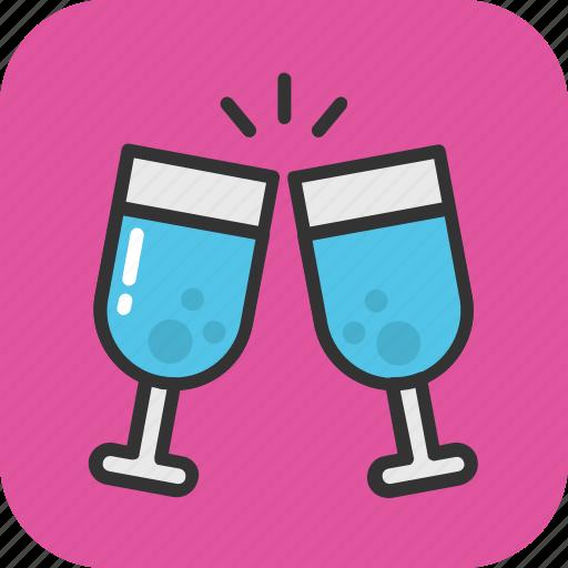 champagne, cheers, glass, toasting, wine icon