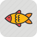 fish, food, healthy food, nutrition, seafood icon